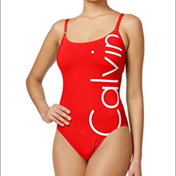 d21e4eac34 Calvin Klein Other - Red Calvin Klein one piece swimsuit